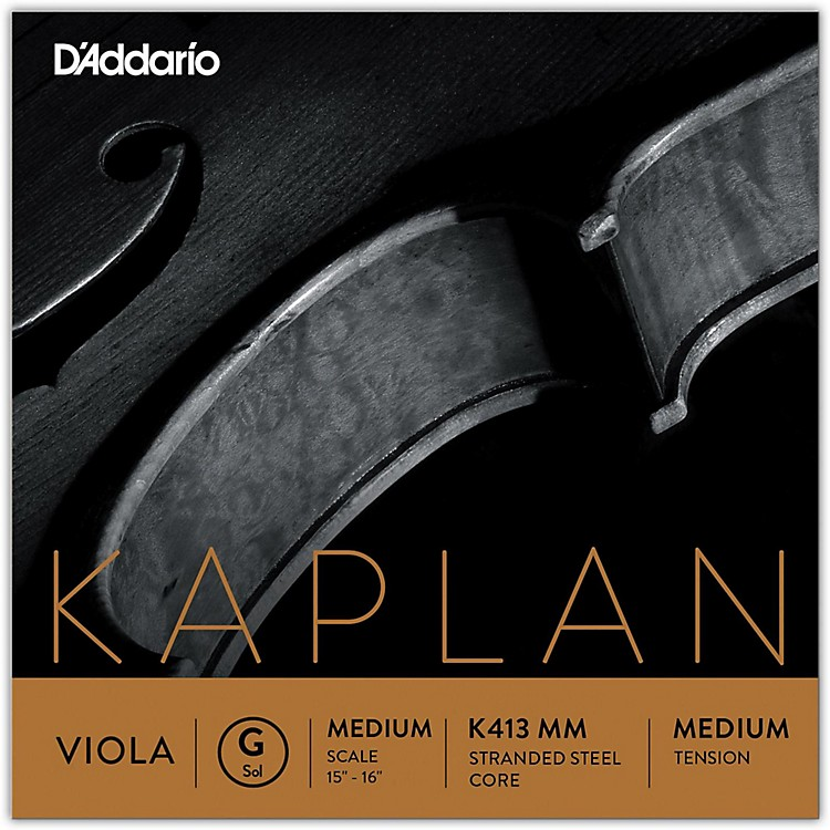 D'Addario Kaplan Series Viola G String 15+ Medium Scale