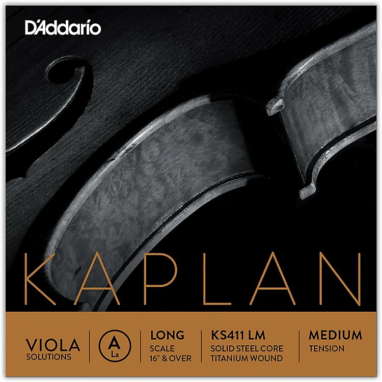D'Addario Kaplan Solutions Series Viola A String 16+ Long Scale Medium
