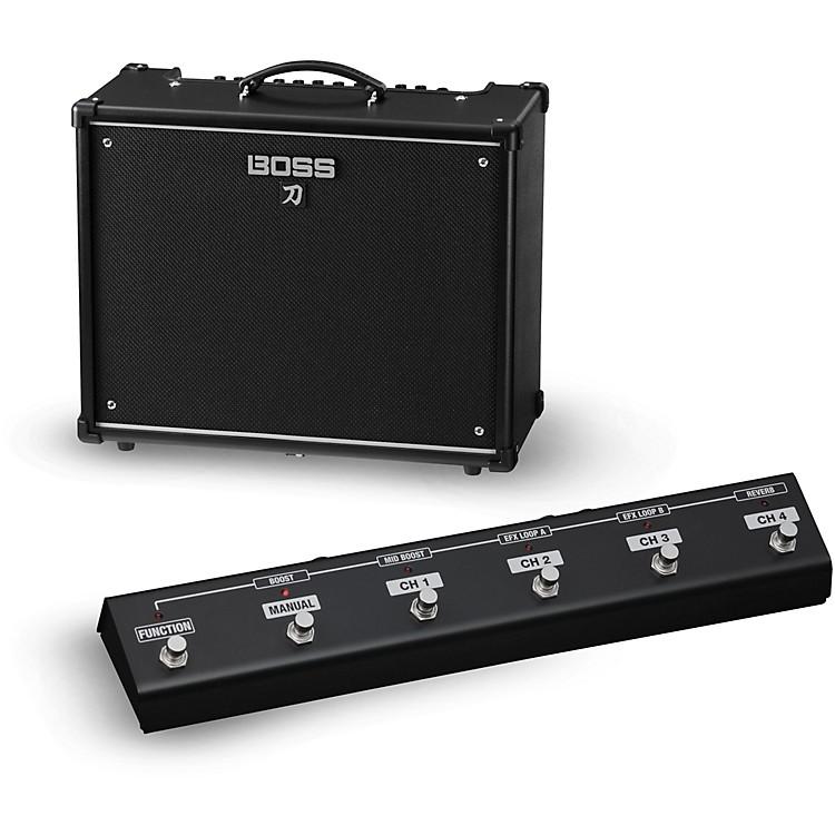 BossKatana KTN-100 100W 1x12 Guitar Combo Amplifier with GA-FC Foot Controller