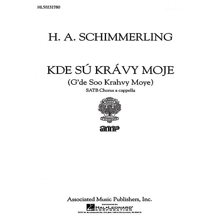 AssociatedKde Su Kravy Moje  A Cappella SATB composed by H.A. Schimmerling