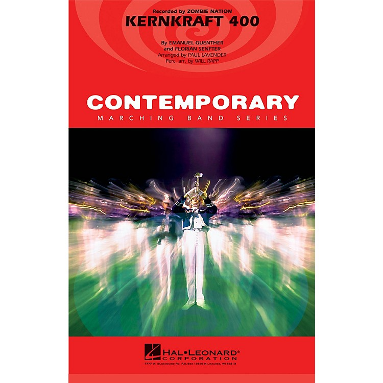 Hal Leonard Kernkraft 400 Marching Band Level 3-4 by Zombie Nation Arranged by Paul Lavender