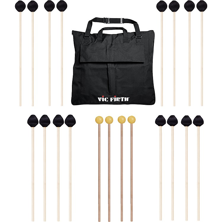 Vic Firth Keyboard Mallet 10-Pack w/ Free Mallet Bag M182(4), M187(2), M188(2)