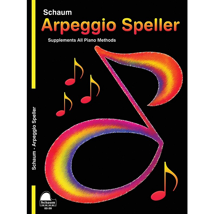 SCHAUM Keynote Arpeggio Speller Educational Piano Series Softcover