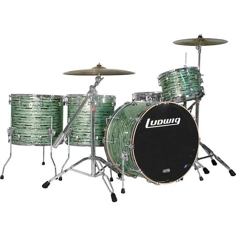 Ludwig Keystone 4-Piece Rock Drum Shell Pack Mint Oyster Pearl