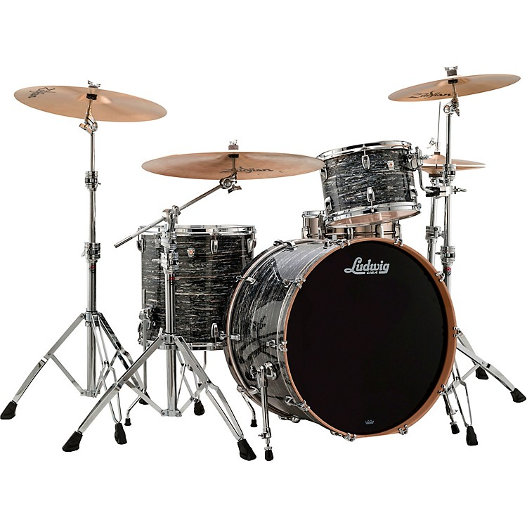 LudwigKeystone X 3-Piece Pro Beat Shell Pack with 24 in. Bass DrumWhite Marine Pearl
