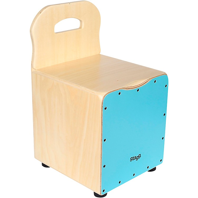 Stagg Kid's Cajon with Backrest  Blue