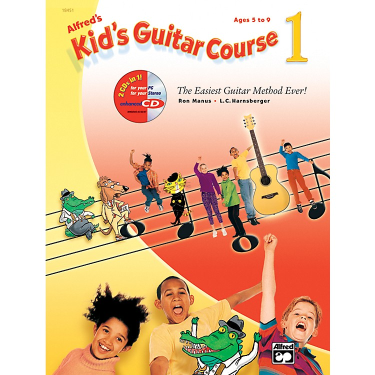 AlfredKid's Guitar Course 1 Book Enhanced CD & DVD