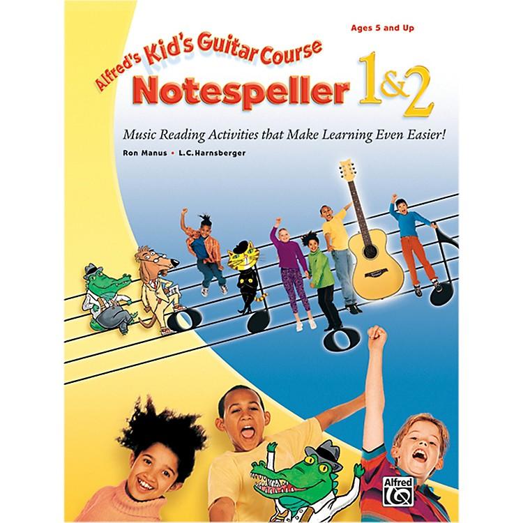 AlfredKid's Guitar Course Notespeller 1 & 2 Book