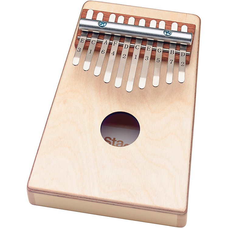 StaggKid's Kalimba 10 Keys with Note Names Printed on Keys - Natural