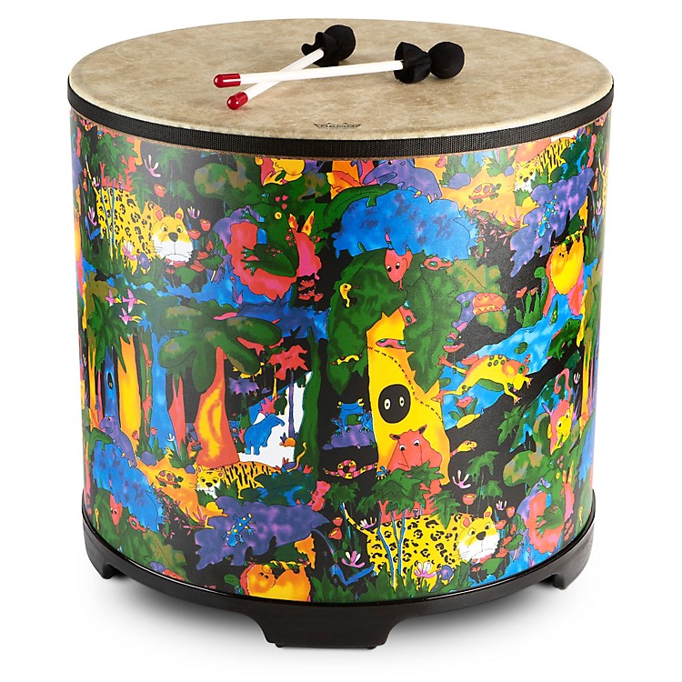 Remo Kid's Percussion Rain Forest Gathering Drum  18 x 8 in.