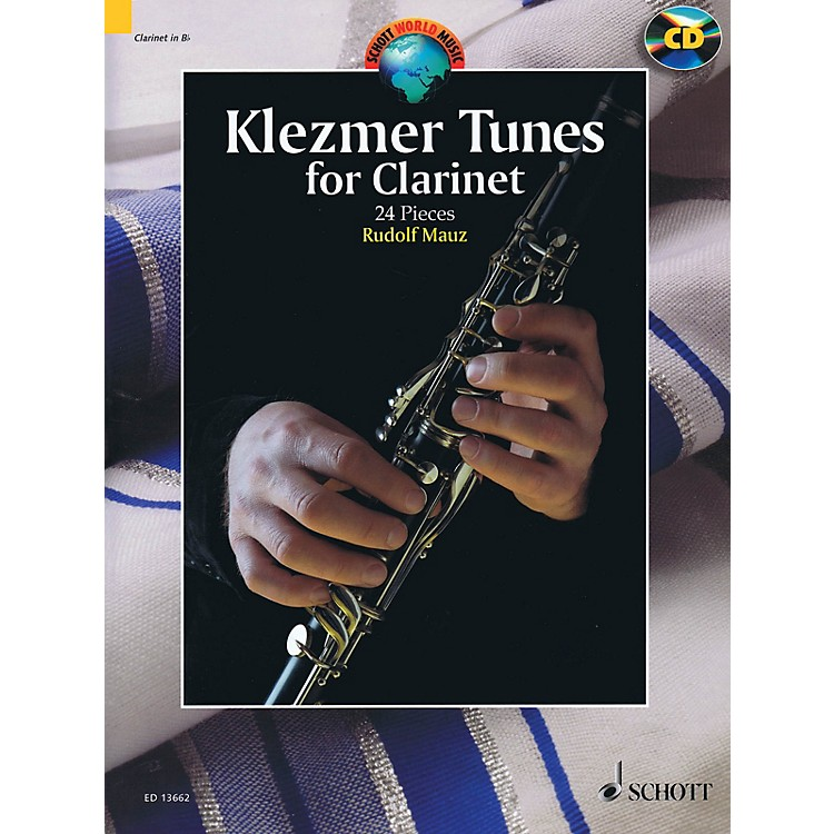 Schott Klezmer Tunes for Clarinet (24 Pieces) Woodwind Series BK/CD