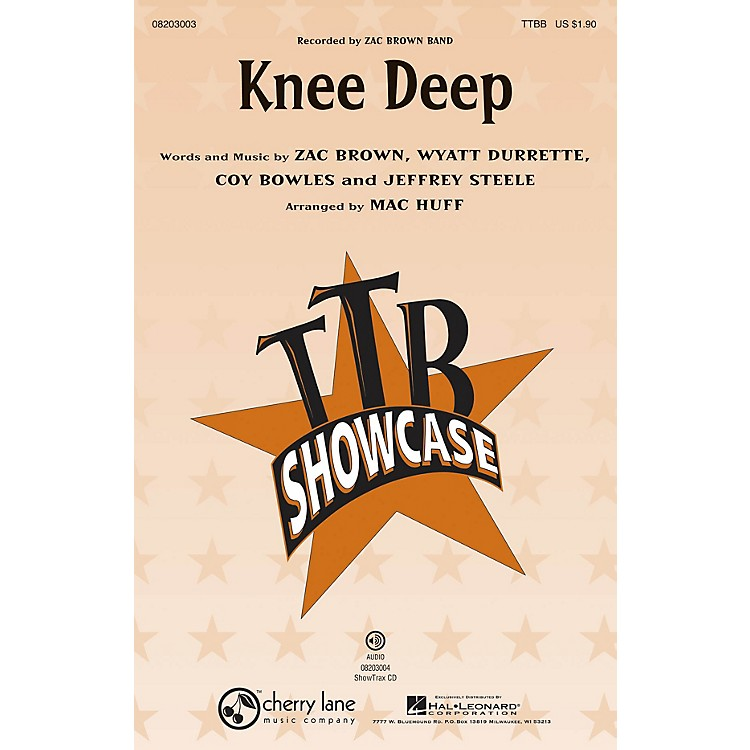 Hal Leonard Knee Deep ShowTrax CD by Zac Brown Band Arranged by Mac Huff