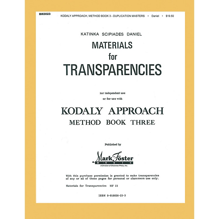 Shawnee Press Kodály Approach (Method Book Three - Transparencies)