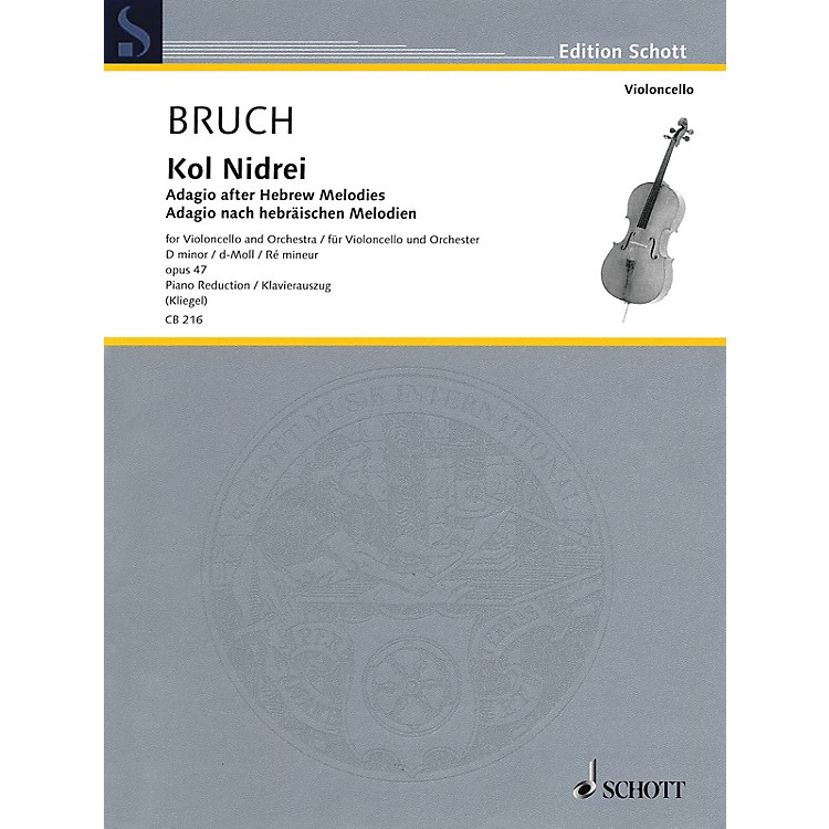 Hal LeonardKol Nidrei: Adagio After Hebrew Melodies Cello/piano Reduction, D-min, Op. 47 String Series Softcover