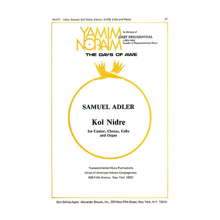 Transcontinental MusicKol Nidrei SATB arranged by Samuel Adler