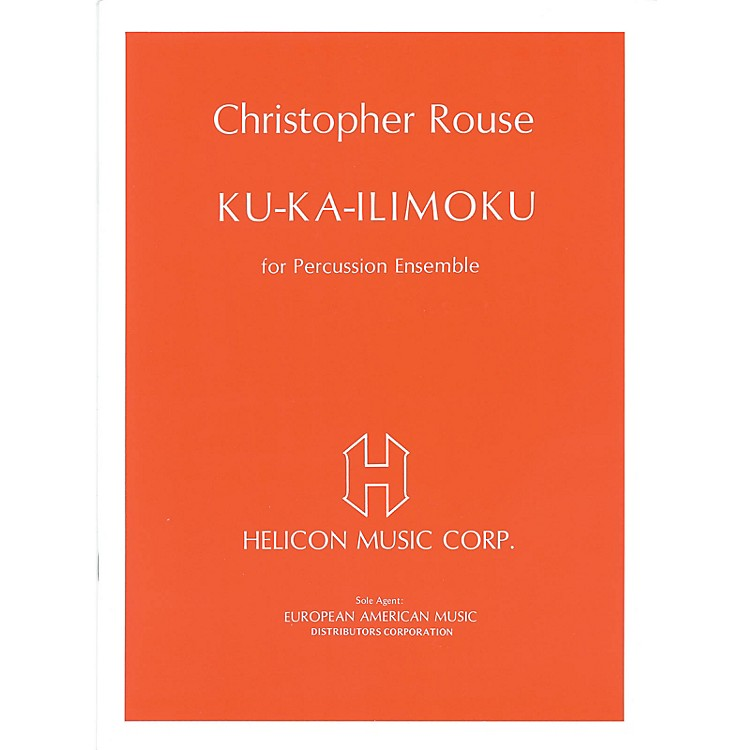 SchottKu Ka-Ilimoku (for Percussion Ensemble - Full Score and Parts) Schott Series Softcover