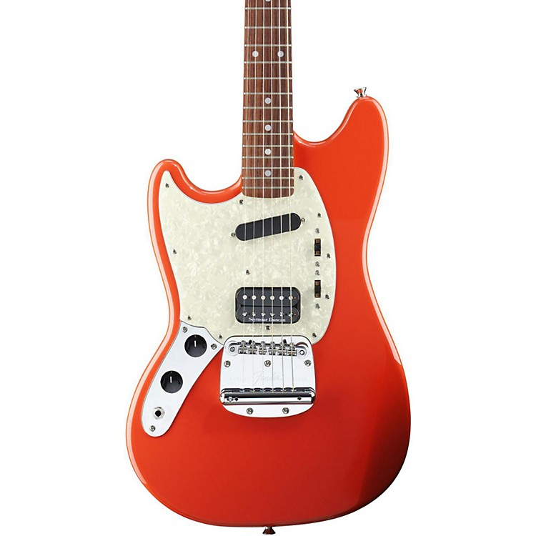 Fender Kurt Cobain Signature Mustang Left-Handed Electric Guitar Fiesta Red Rosewood Fingerboard