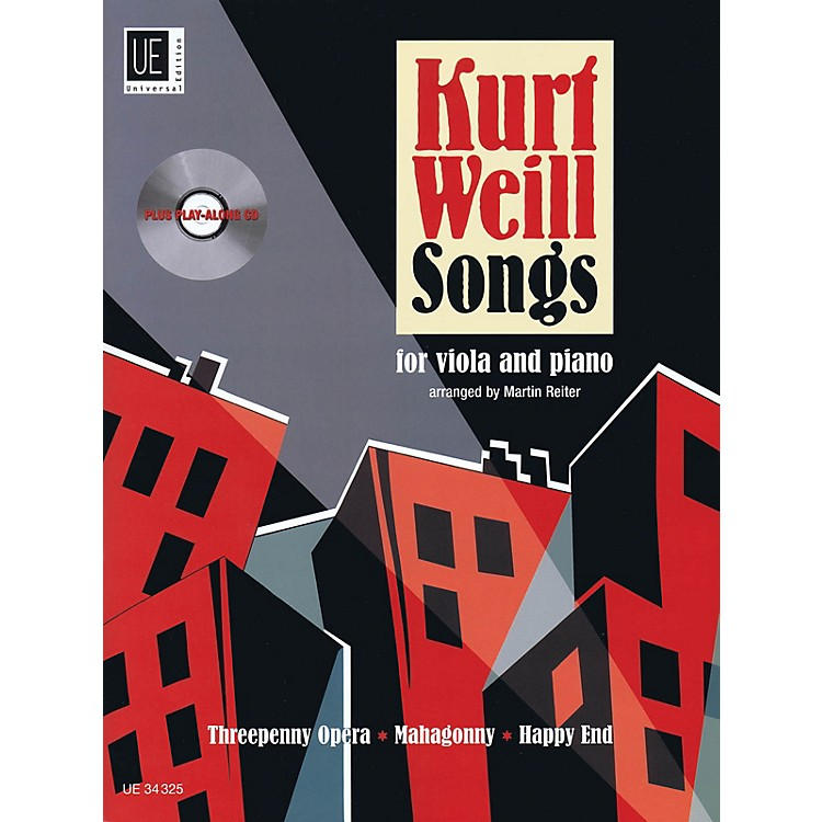 Universal EditionKurt Weill Songs String Solo Series Softcover with CD