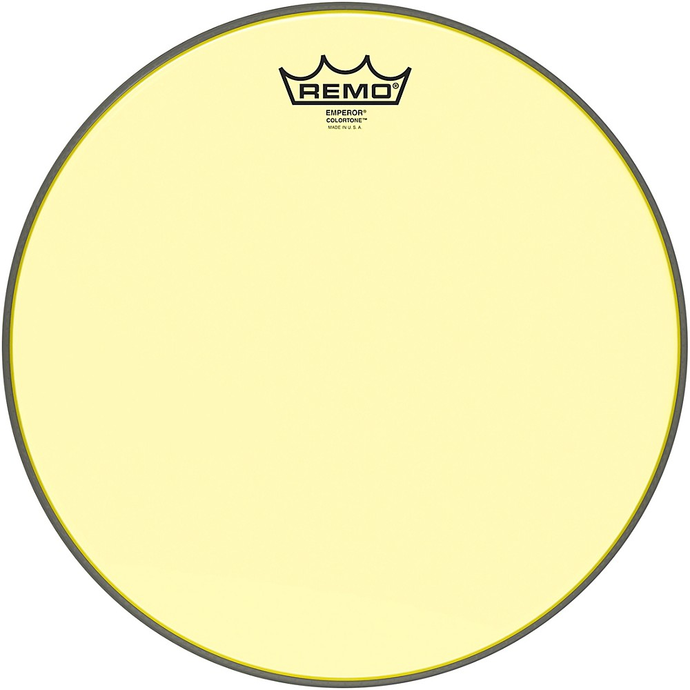 remo emperor colortone yellow drum head 13 in 757242627167 ebay. Black Bedroom Furniture Sets. Home Design Ideas