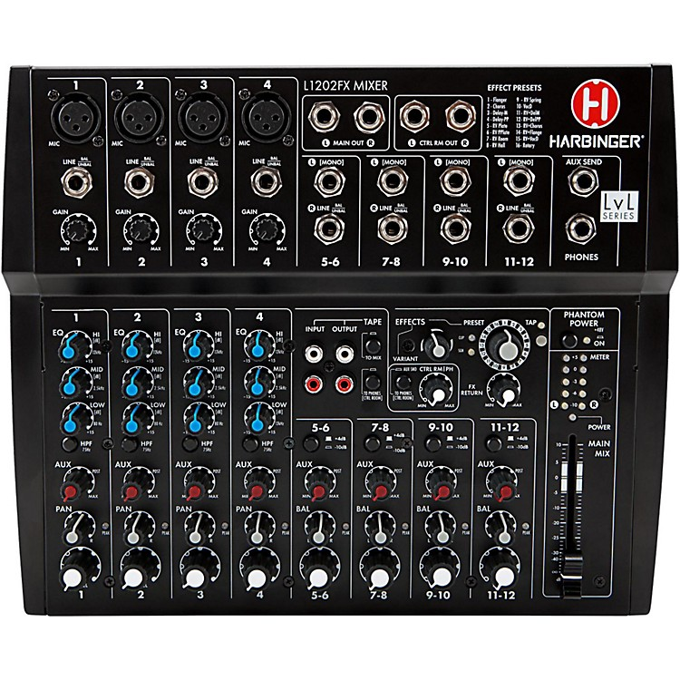 HarbingerL1202FX 12-Channel Mixer with Effects