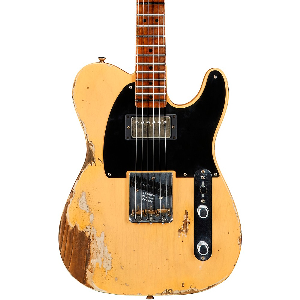fender custom shop 1951 heavy relic hs telecaster guitar nocaster blonde ebay. Black Bedroom Furniture Sets. Home Design Ideas