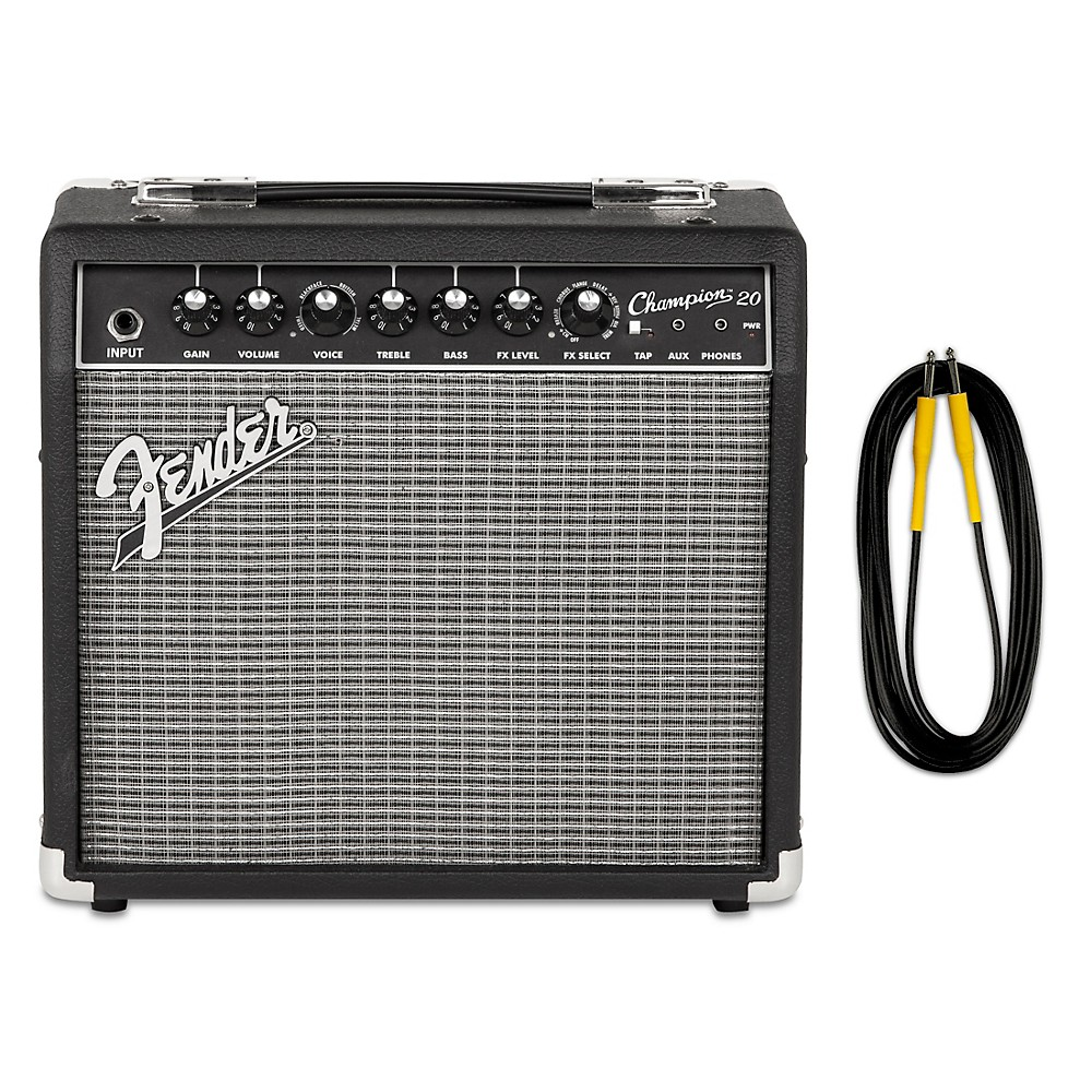 fender champion 20 guitar combo amp with 20 foot instrument cable ebay. Black Bedroom Furniture Sets. Home Design Ideas