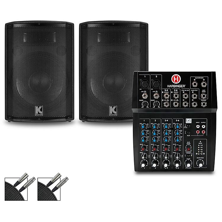HarbingerL802 Mixer and Kustom HiPAC Speakers12