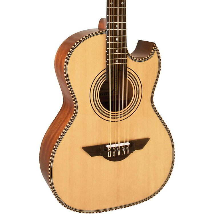 H. Jimenez LBQ1 El Estandar (The Standard) Full Body Bajo Quinto Acoustic Guitar Natural