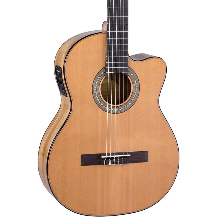 Lucero LC235SCE Acoustic-Electric Exotic Wood Classical Guitar Natural