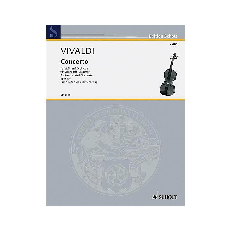 SchottL'Estro Armonico (RV 356/PV 1) Schott Series Composed by Antonio Vivaldi Arranged by Gustav Lenzewski
