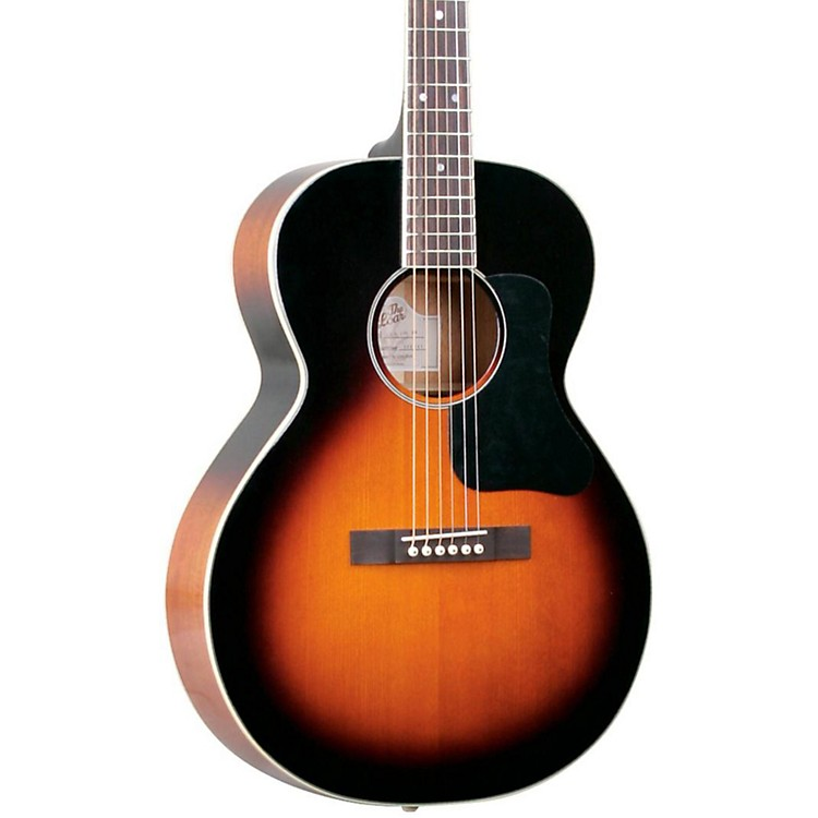 the loar lh 200 small body acoustic guitar vintage sunburst music123. Black Bedroom Furniture Sets. Home Design Ideas
