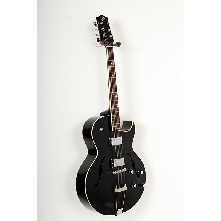 The Loar LH-280-C Archtop Hollowbody Electric Guitar Black 888365783369