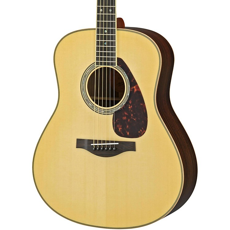 Yamaha LL16R L Series Solid Rosewood/Spruce Dreadnought Acoustic-Electric Guitar Dark Tinted Natural