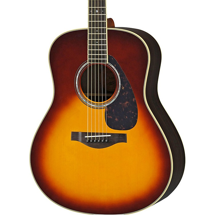 Yamaha LL6R L Series Rosewood/Spruce Dreadnought Acoustic-Electric Guitar Brown Sunburst