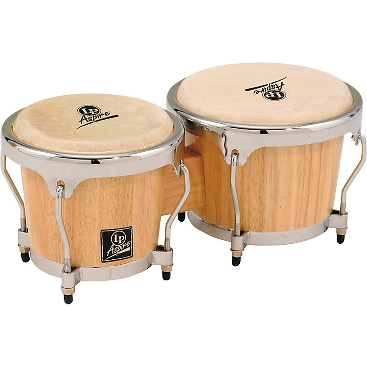 LP LPA601 Aspire Oak Bongos with Chrome Hardware Vintage Sunburst