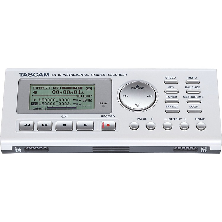 Tascam LR-10 Instrument & Vocal Trainer/Recorder