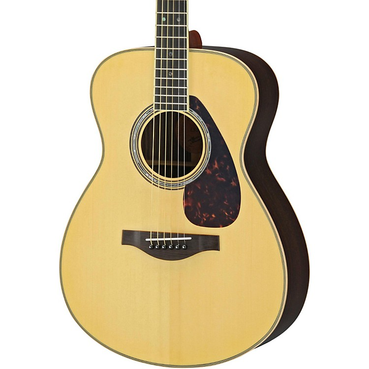 Yamaha LS16R L Series Solid Rosewood/Spruce Concert Acoustic-Electric Guitar Dark Tinted Natural