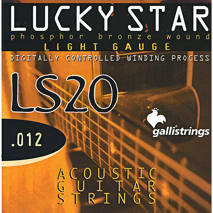 Galli StringsLS20 LUCKY STAR Phosphor Bronze Round Wound Light Acoustic Guitar Strings