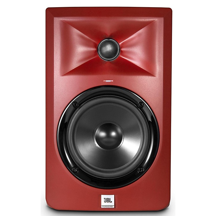 JBLLSR305 5 in. Limited Edition Powered Studio Monitor - Matte Red