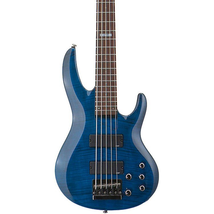 ESPLTD B-155DX 5-String Bass GuitarSee-Thru Blue