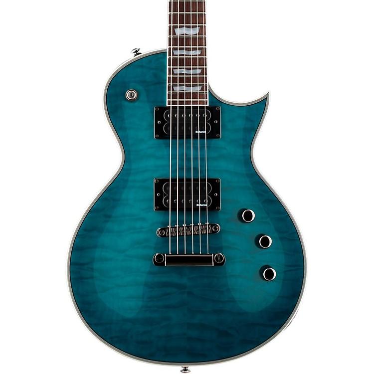 ESPLTD EC-401QMV Electric GuitarSee-Thru Aqua