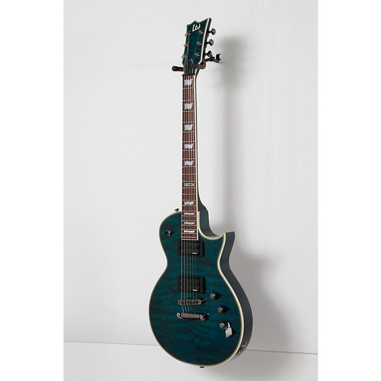 ESPLTD EC-401QMV Electric GuitarSee-Thru Aqua190839008152