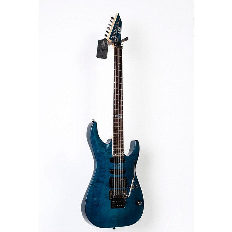 ESP LTD MH-103 Quilted Maple Electric Guitar See Thru Blue, Rosewood Fingerboard 888365747842