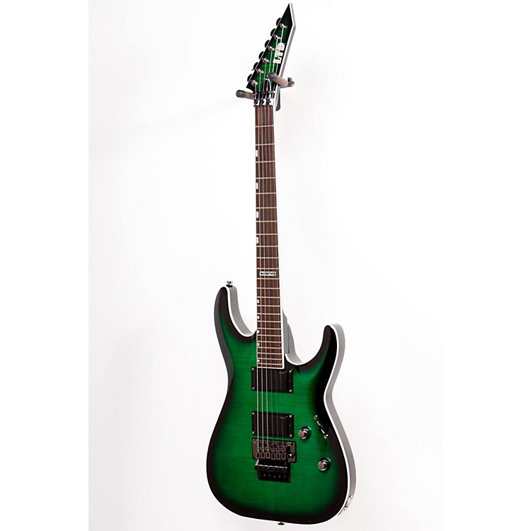 ESP LTD MHFR-330FM Flame Maple Top Electric Guitar See-Thru Green Sunburst 886830814129
