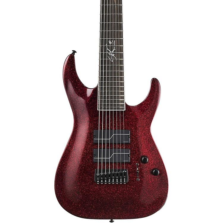 ESPLTD Stef Carpenter SC-608 Baritone Electric GuitarRed Sparkle