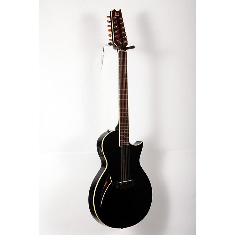 ESPLTD TL-12 Thinline 12-String Acoustic-Electric GuitarBlack888365846019