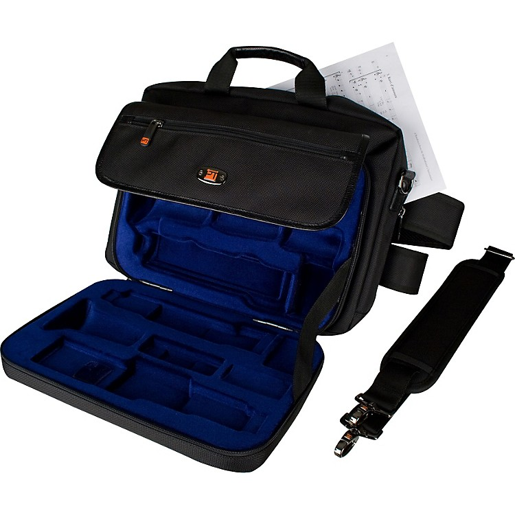 ProtecLUX Clarinet Case with Sheet Music Messenger BagBlack