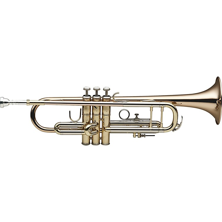 Levante LV-TR6305 Bb Professional Trumpet with Monel Valves - Gold Brass Clear Lacquer Gold Brass Bell