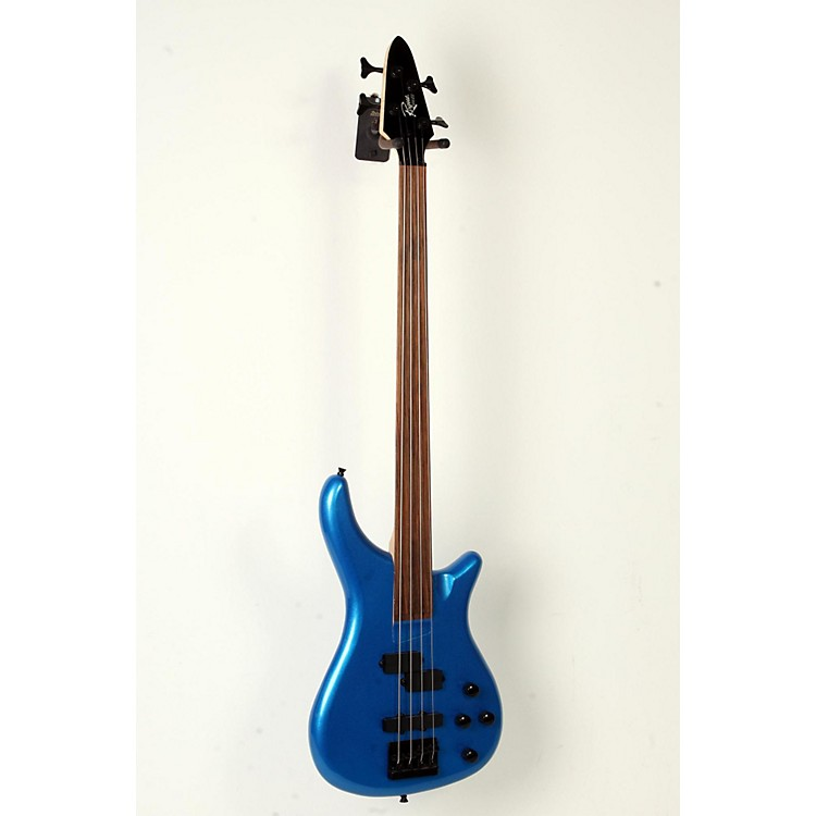 Rogue LX200BF Fretless Series III Electric Bass Guitar Metallic Blue 888365908557