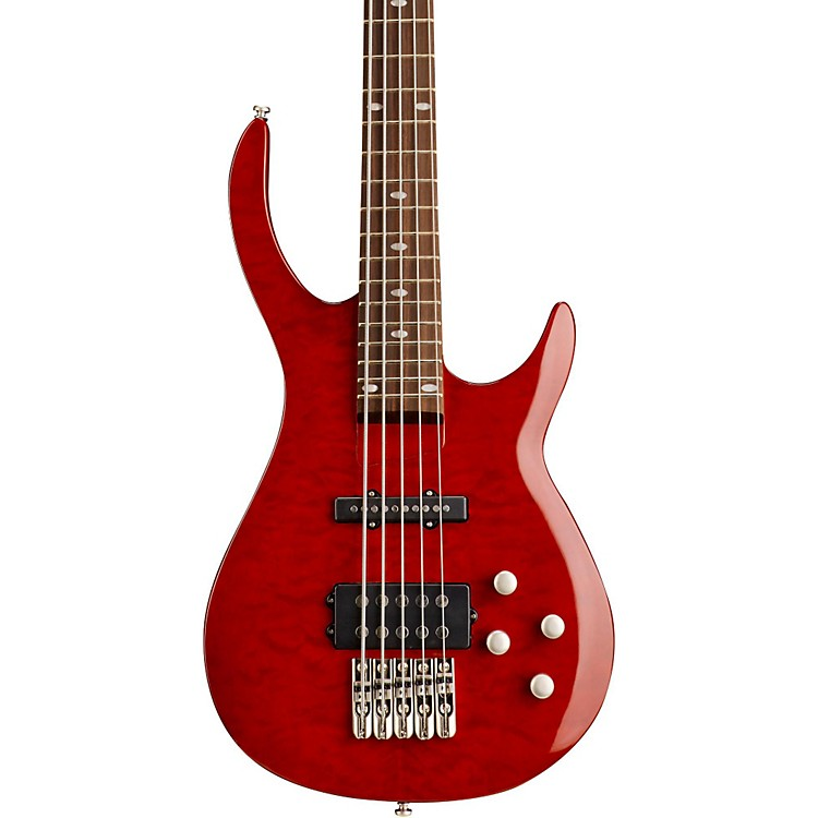 RogueLX405 Series III Pro 5-String Electric Bass GuitarTransparent Red